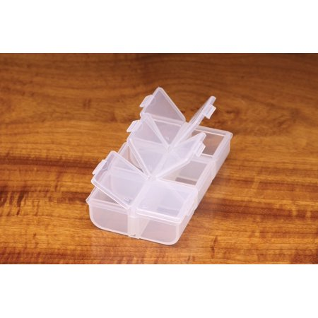 Hareline 6 Compartment Box - Fly Box or Hook Box - Fly Fishing