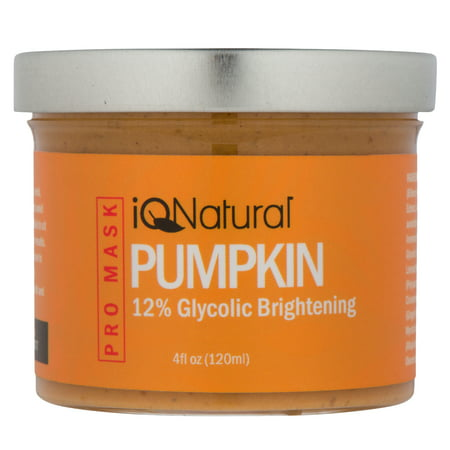 Organic Pumpkin Enzyme Facial Peel Mask with 12%Glycolic Acid by iQ Natural - Enzyme Peel Mask