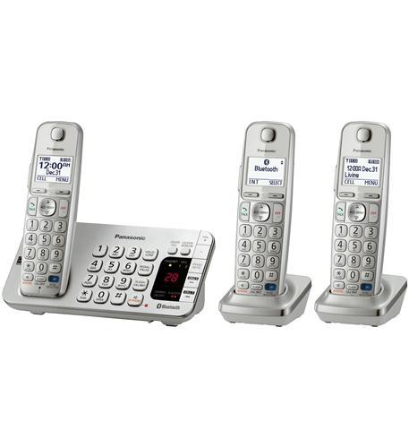Panasonic Kx-tge273s Dect 6.0 1.90 Ghz Cordless Phone Silver Cordless 1 X Phone Line 2 X Handset Answering... by Panasonic