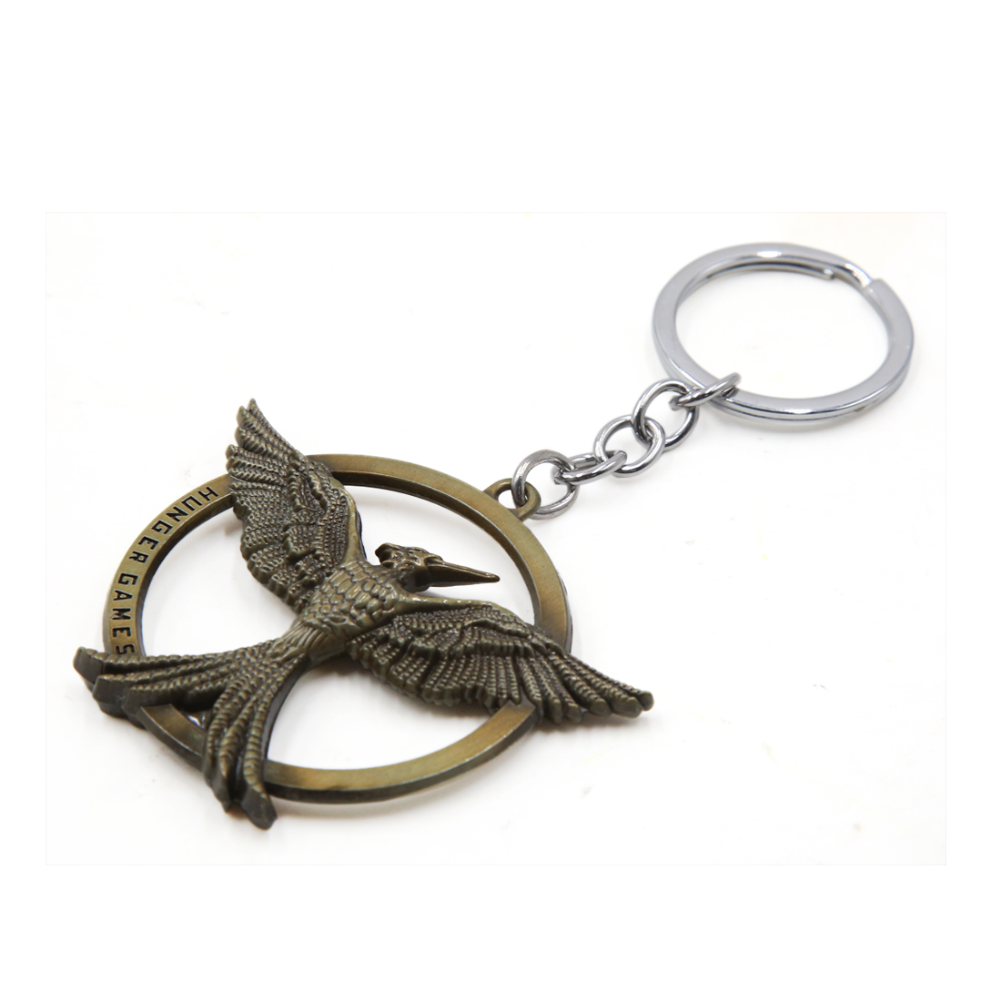 Universal Portable Bronze Tone Eagle Design Key Ring Keychain for Car Automobile