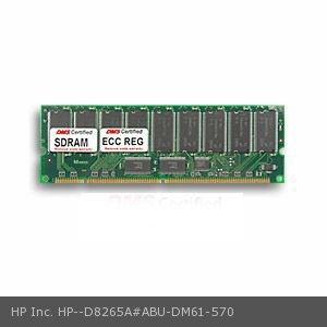 HP Inc. D8265A#ABU equivalent 128MB DMS Certified Memory PC133 16X72-7 ECC/Reg. 168 Pin  SDRAM DIMM 18 Chip (16x8) - DMS