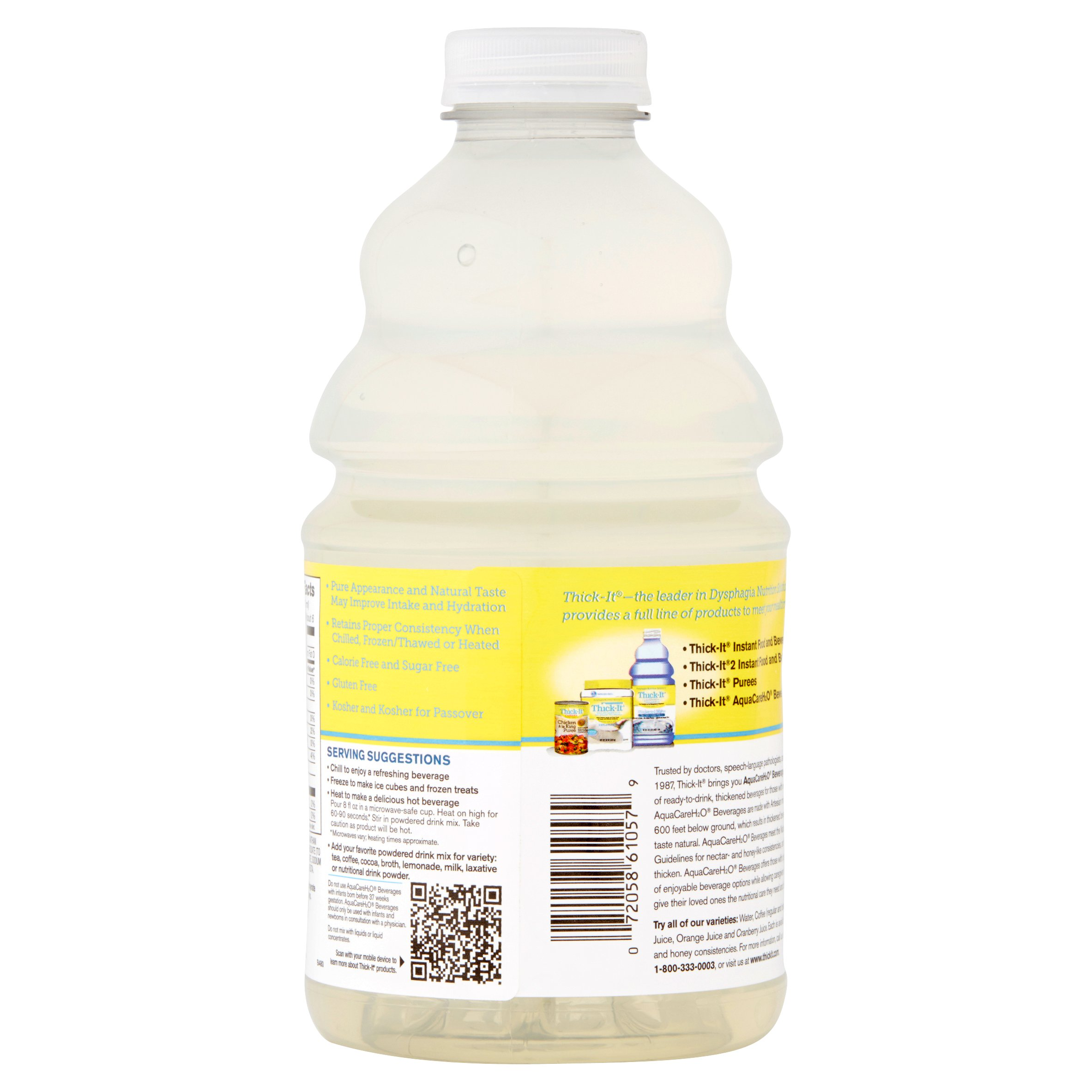 Thick-It AquaCareH₂O Beverages Thickened Water, 46 fl oz
