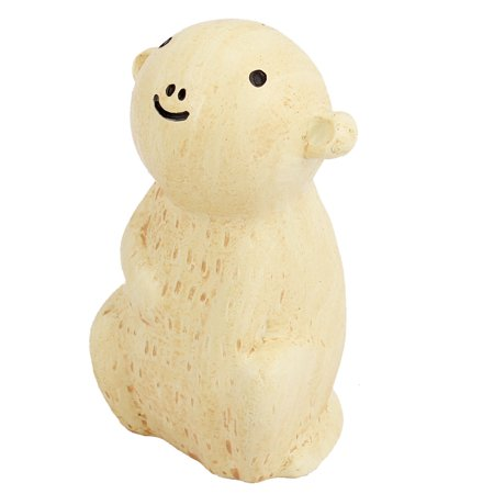 Unique Bargains Home Decor Simulated Monkey Animal Adornment Crafts Off White](Monkey Crafts)