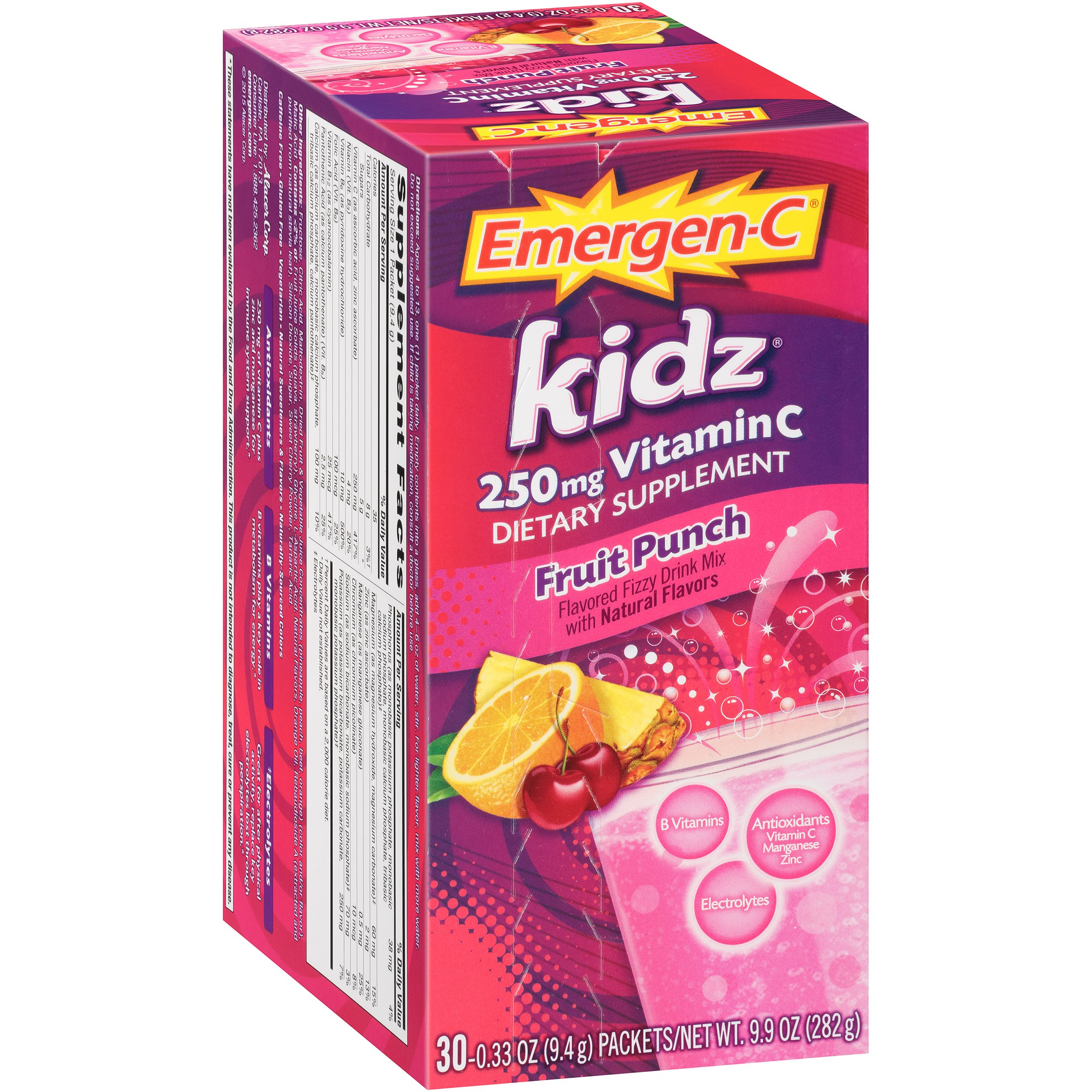 Emergen-C Kidz Dietary Supplement Drink Mix With 250mg Vitamin C, 0.33 Ounce Packets,... by Alacer Corp
