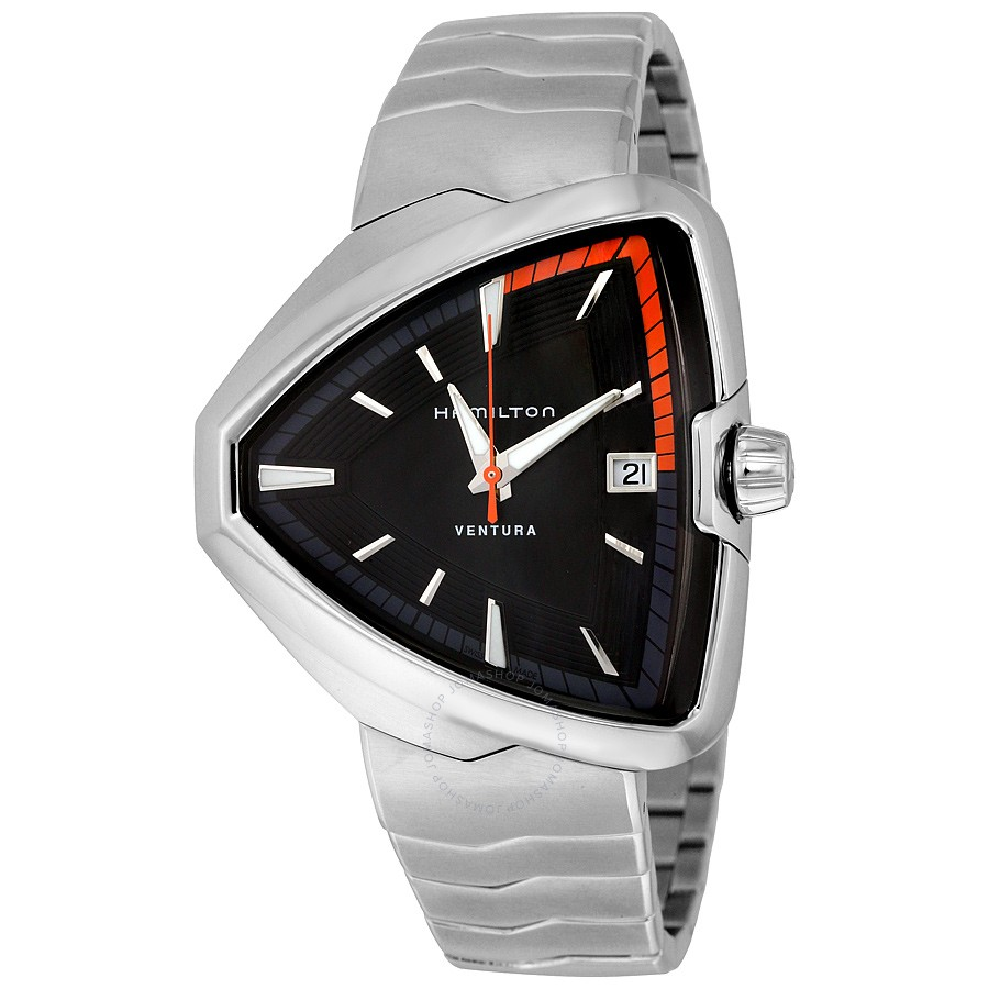 Hamilton Ventura Elvis80 Black Dial Mens Watch H24551131 by Hamilton