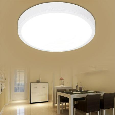 Bestller 11.4'' Round LED Ceiling Lights Flush Mount Lighting Fixture for Kitchen Bathroom Dining Room Bedroom Home 12W 900lm AC85V-265V ()