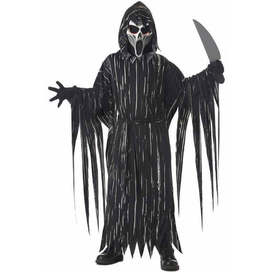Grim Reaper Deluxe Horror Scary Child Costume