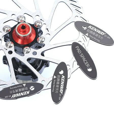 4 PCS Disc Brake Pads MTB Bike Bicycle Rotor Alignment Tools Mounting Spacer Set