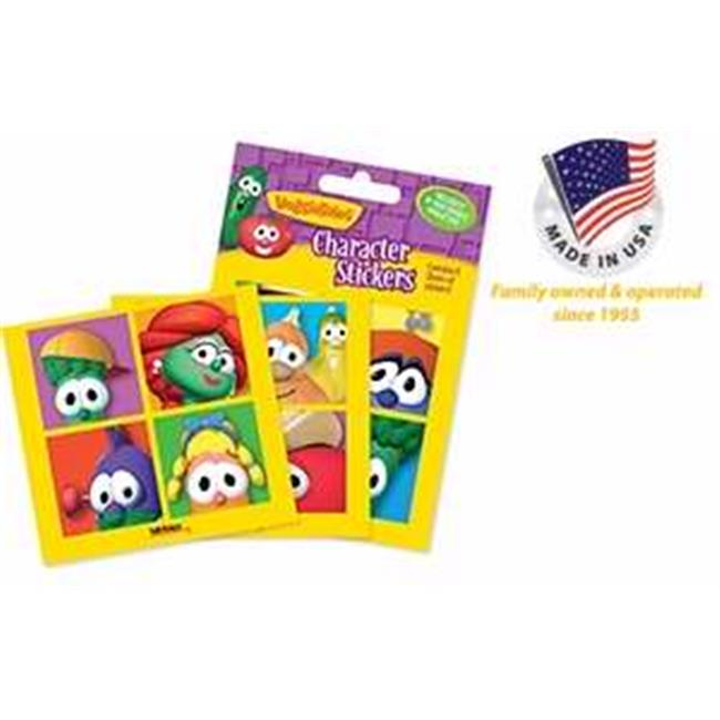 Tabbies 049391 Sticker-Veggie Tale Characters, Assorted - Pack of 10 - image 1 of 1