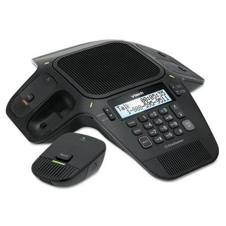 Vtech Communications Vcs704 Vcs704 Erisstation Wireless Conference Phone  44  4 Wireless 2 Fixed Microphones