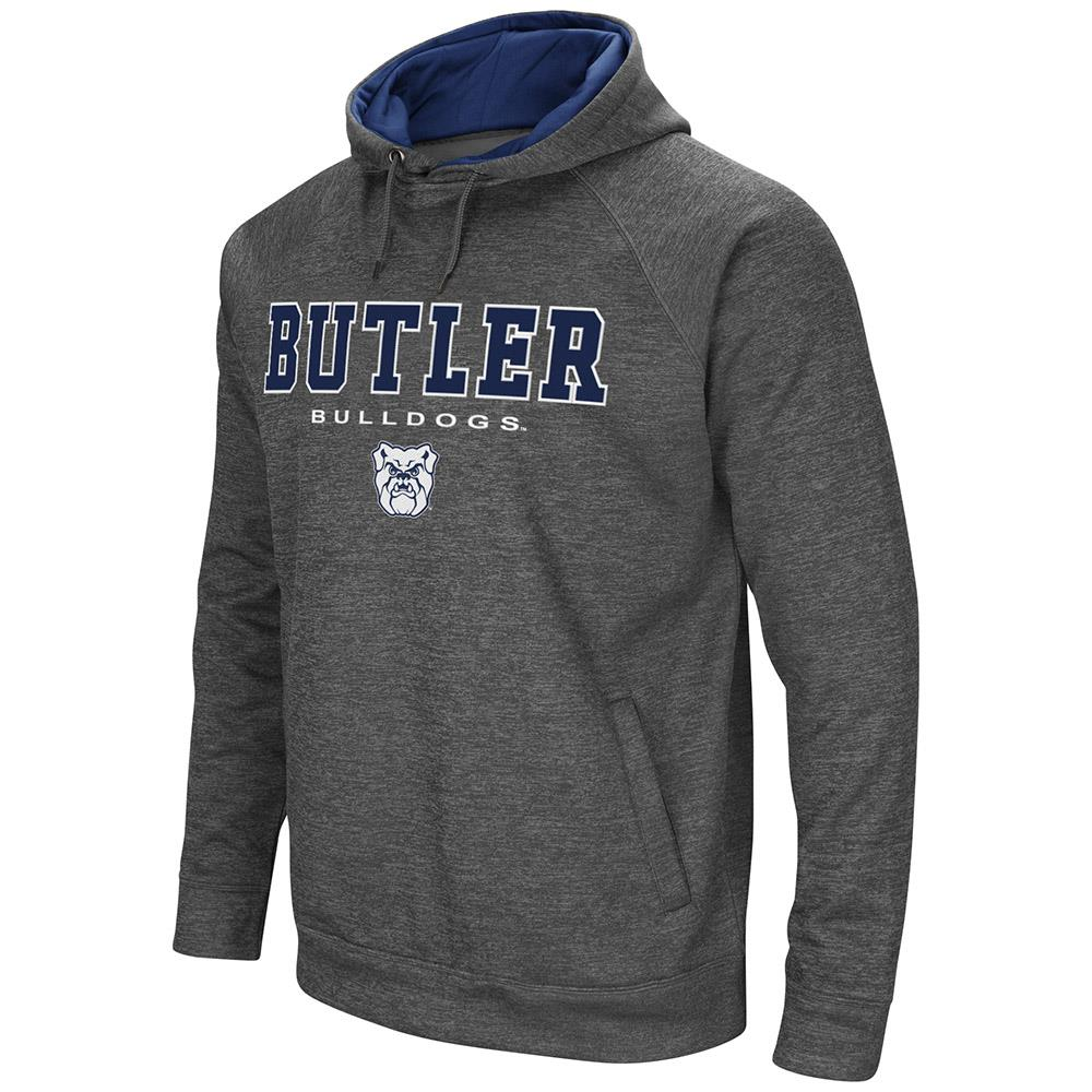 Mens Butler Bulldogs Heather Charcoal Pull-over Hoodie by Colosseum