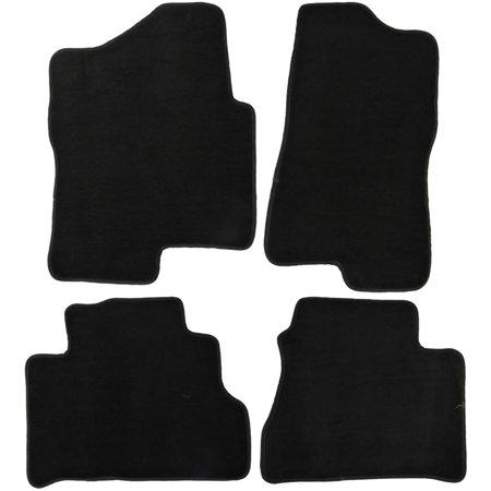 Chevy Silverado Carpet (UAA Custom-fit Black Carpet Truck Floor Mats Set for Chevy Silverado 1999-2006)