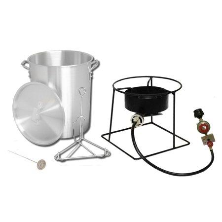 King Kooker 1266B Portable Outdoor Propane Turkey Fryer, 29-Quart w/ (Gas Turkey Fryer)