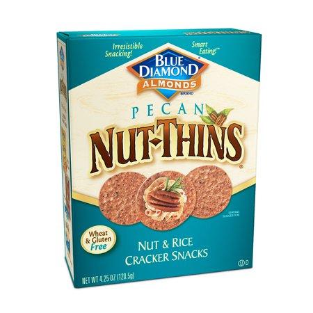 Blue Diamond Nut-Thins Pecan Nut & Rice Cracker Snacks, 4.25 Oz.