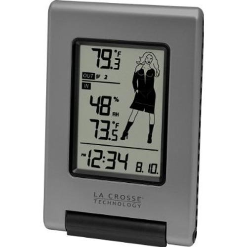 Wireless Temperature Station with Changing Weather Girl Icon