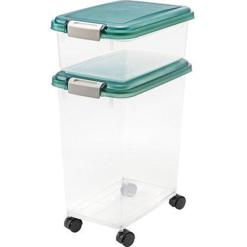 IRIS 2-Piece Airtight Pet Storage Bin Set