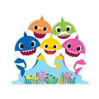 Baby Shark Family Cardboard Stand-Up, 3.5ft