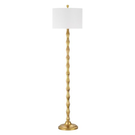 Safavieh Aurelia Floor Lamp with CFL Bulb, Antique Gold with Off-White Shade