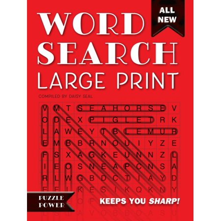 Word Search Large Print (Red) : Word Play Twists and Challenges