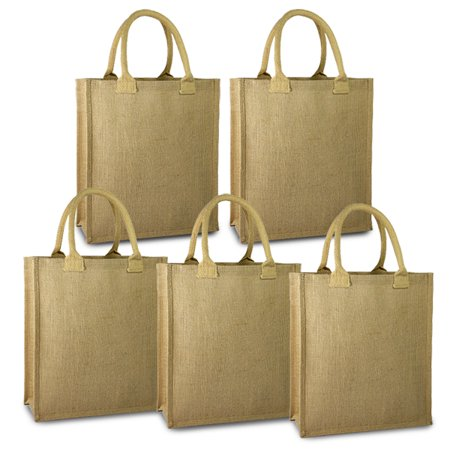 Natural Brown Paper Bag - Expo Int'l Pack of 5 Piper Natural Jute Gift Bag