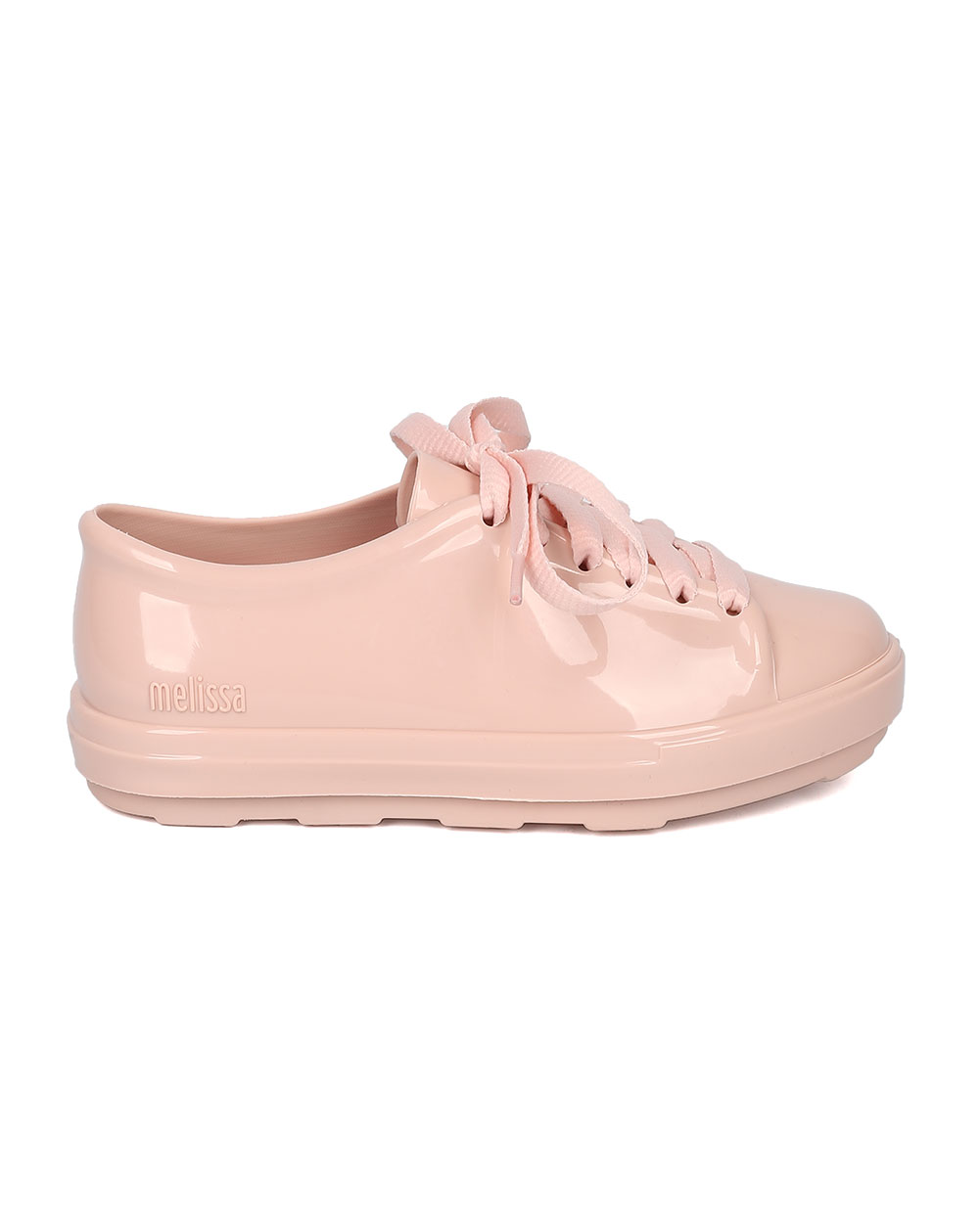 Mel Dreamed By Melissa Mel Be PVC Lace Up Round Toe Low Top Sneaker HB90