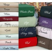 twin xl 400tc egyptian cotton bed sheet sets color: gold