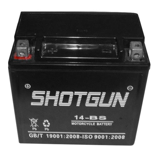 Shotgun 14-BS-Shotgun-006 12V 12Ah 14-BS Motorcycle Battery for 2012 - 2008 Aprilia Mana 850