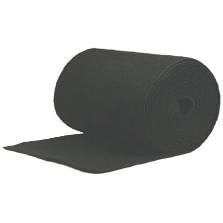 Filtration Group 10770 Roll Media Air Filter, Polyester Filter Media Impregnated with Activated Carbon, Black, 24.5