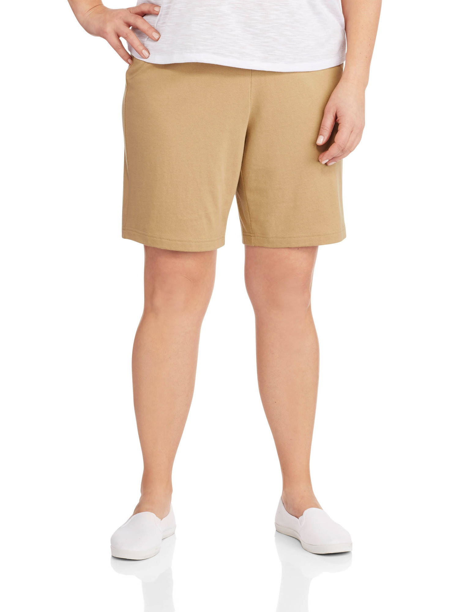 """BRAND NEW  LADY/'S /""""WHITE STAG FRUIT KHIKI COLOR 4 POCKET SHORTS with CLOTH BELT"""