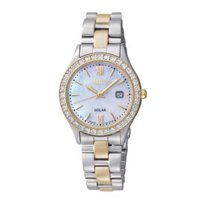 Seiko Womens Two Tone Solar Dress Watch