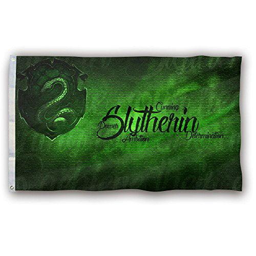 DEYOU House Slytherin Flag 3x5 Feet Banner Flag