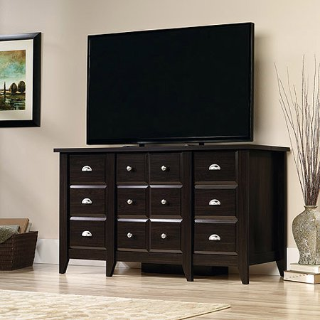 Sauder Shoal Creek Entertainment Credenza for TVs up to 50;, Jamocha