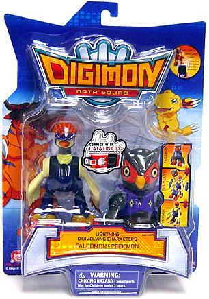 Digimon Lightning Digivolving Characters Falcomon to Peckmon Action Figure by