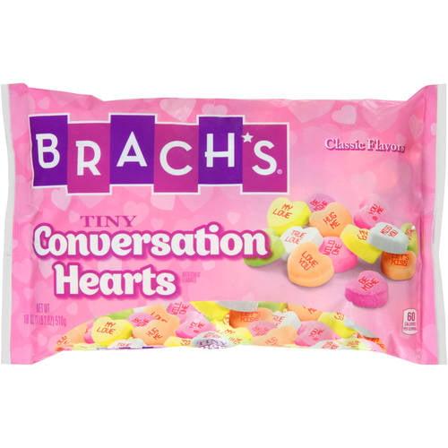 Brach S Tiny Conversation Hearts Candy 18 Oz Walmart Com Walmart Com