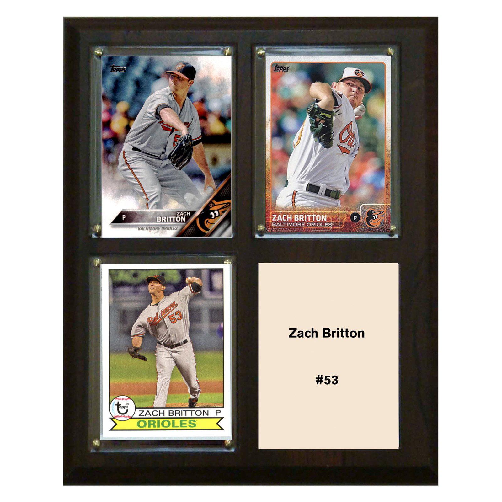 "C & I Collectables MLB 8"" x 10"" Zach Britton Baltimore Orioles 3-Card Plaque"
