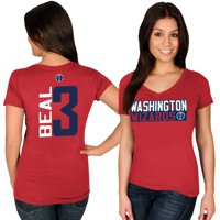 Bradley Beal Washington Wizards Majestic Women's Name & Number V-Neck T-Shirt - Red
