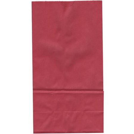 Red Paper Sack Lunch Bags  Pack Of 40  5 3125   Wide X 10   High X 3 25   Deep  Solid Color Paper Sack Lunch Bags By Berwick Ship From Us
