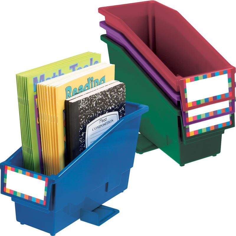 Durable Book And Binder Holder With Stabilizer Wing