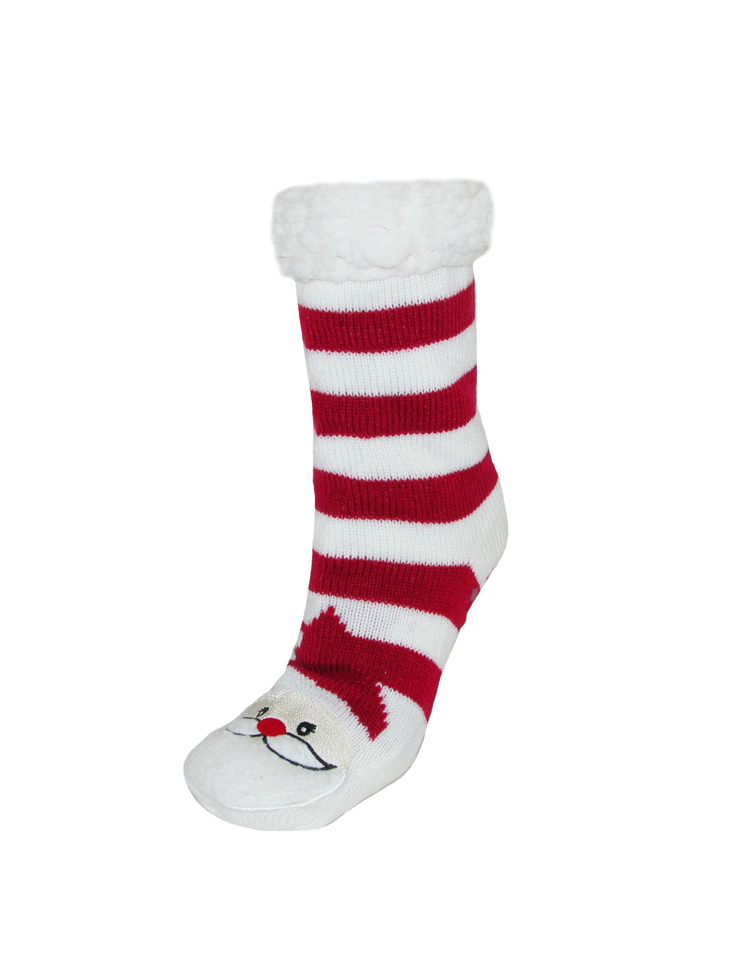 CTM Women's Sherpa Lined Slipper Sock, Size:  one size