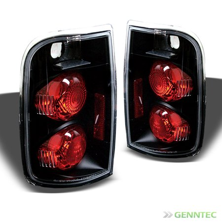 1995-2004 Chevy Blazer/GMC Jimmy Black Tail Lights Lamp Rear Brake  Pair L+R 1996 1997 1998 1999 2000 2001 2002 2003