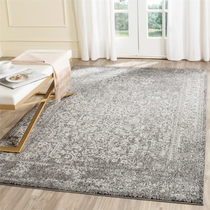 """Safavieh Evoke 5'1"""" X 7'6"""" Power Loomed Rug in Gray and Ivory - image 5 of 7"""