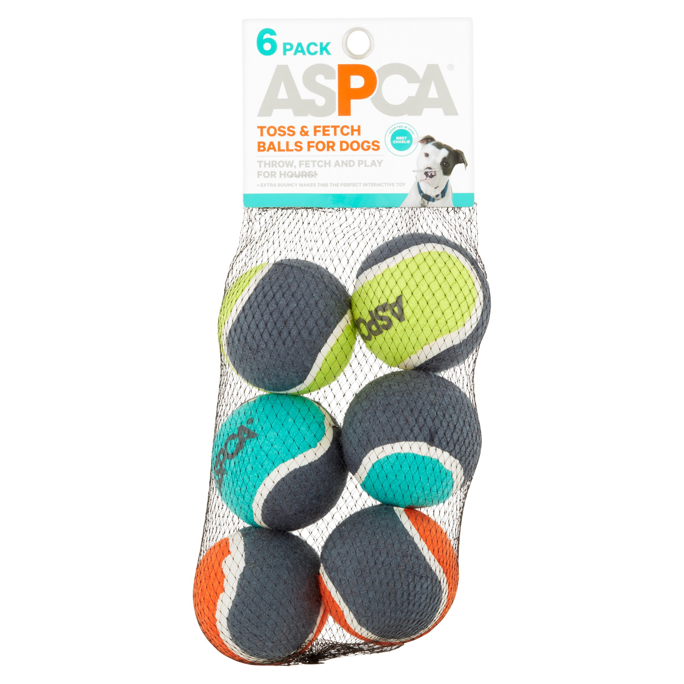 Aspca Tennis Ball toss & Fetch Balls Dog Toy, 6 Ct, Mulicolor