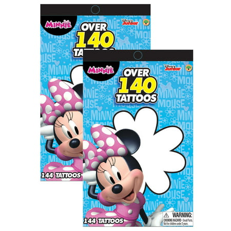 Disney Disney Junior Minnie Mouse Bowtique Over 140 Temporary Tattoos Booklets (2pc Set) Party Favors and Handouts - Minnies Bowtique