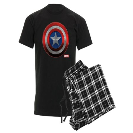 CafePress - Captain America Grunge - Men's Dark Pajamas