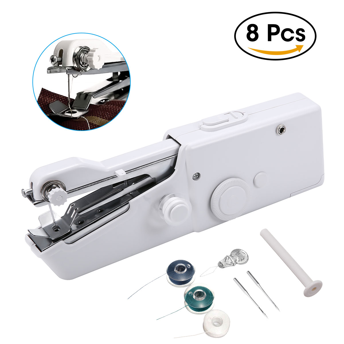 Handheld Portable Stitch Sew Cordless Handy Sewing Machine Quick Repair Tool Universal for DIY cordle Clothing Denim Apparel Sewing Fabric Zippers Crafts Supplies