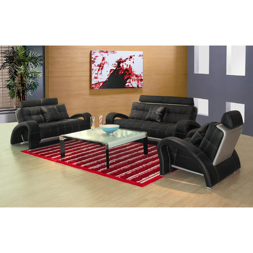 Hokku Designs Arthur Leather 3 Piece Living Room Set by Hokku Designs
