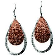 Bar V Western Womens Earrings Open Engraved Teardrop 311-082