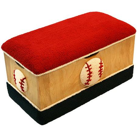 baseball large wooden toy box. Black Bedroom Furniture Sets. Home Design Ideas