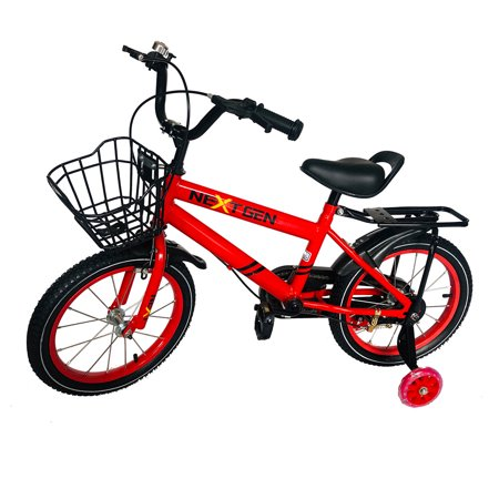 NextGen 16 Inch Childrens Kids Bike Bicycle with Training Wheels & Basket, Red](best deals on childrens bikes)