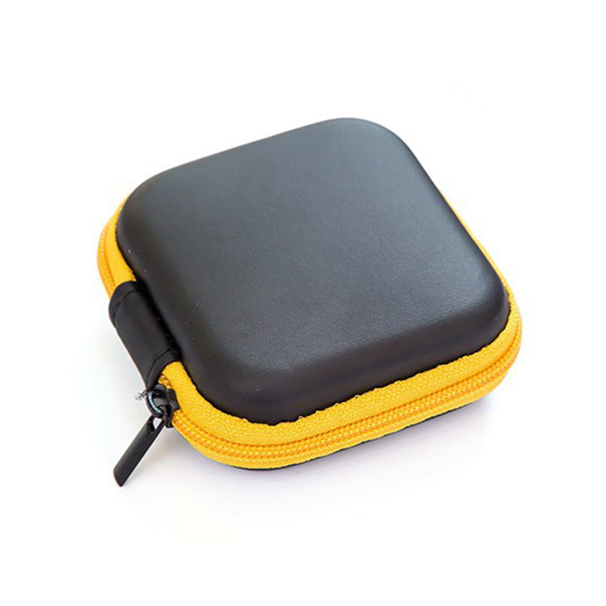 Leather Earphone Storage Bag Case Earbuds Mp3 USB Cable Pouch Pocket Wallet